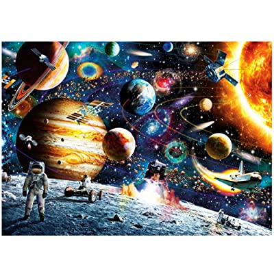 Funny Space Traveler 1000 Piece Jigsaw Puzzle Pieces Match Toys For Kids Adults: Toys & Games