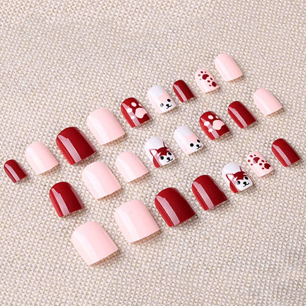 Amazon.com: 24 PCS Natural False Nails Kit, 12 Different Size French False Nails Patch Fashion Nail Tips Full Cover French Style DIY Fingernail Decorative: ...