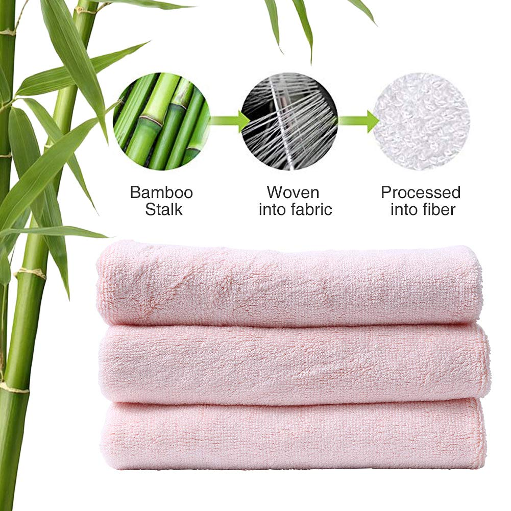 SHIELD CREATOR Towel Luxury Hotel /& Spa Premium Bamboo Cotton Towels Velvety Soft and Ultra Absorbent Antibacterial Quality Eco-Friendly 6 Piece Towel Set 12 x 26 Inch White