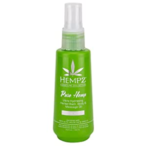 Hempz Pure hemp bath, body & massage oil, 4.2 Ounce