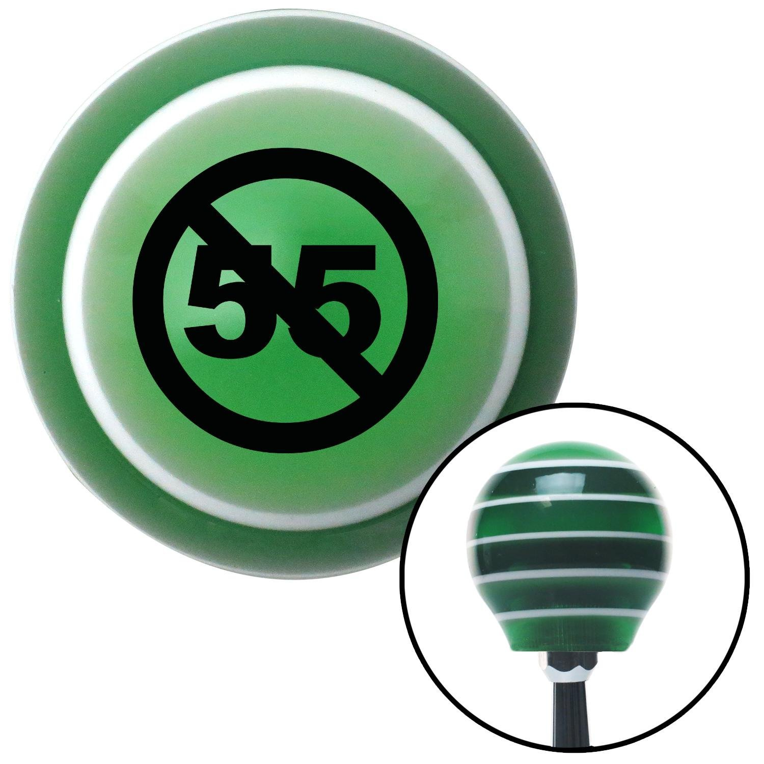 Black Cant Drive 55 American Shifter 128490 Green Stripe Shift Knob with M16 x 1.5 Insert