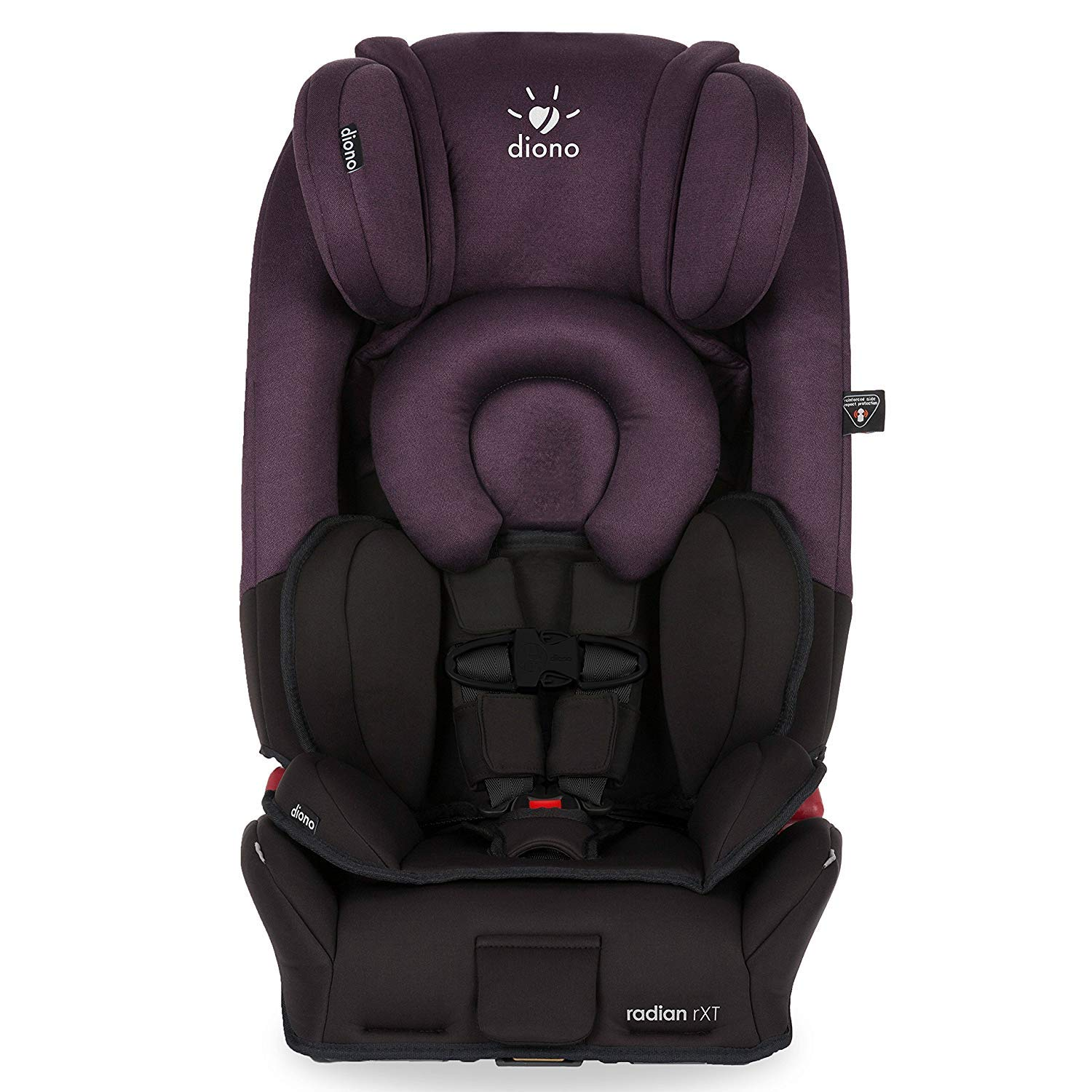 Diono Radian Rxt All In One Convertible Car Seat For Children From Birth To 120 Pounds Black Plum
