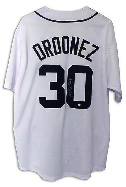 best website 16e48 eb959 Magglio Ordonez Detroit Tigers Autographed White Jersey -APE ...
