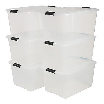Iris 6er Set Stapelbare Aufbewahrungsboxen Top Box Mit Deckel