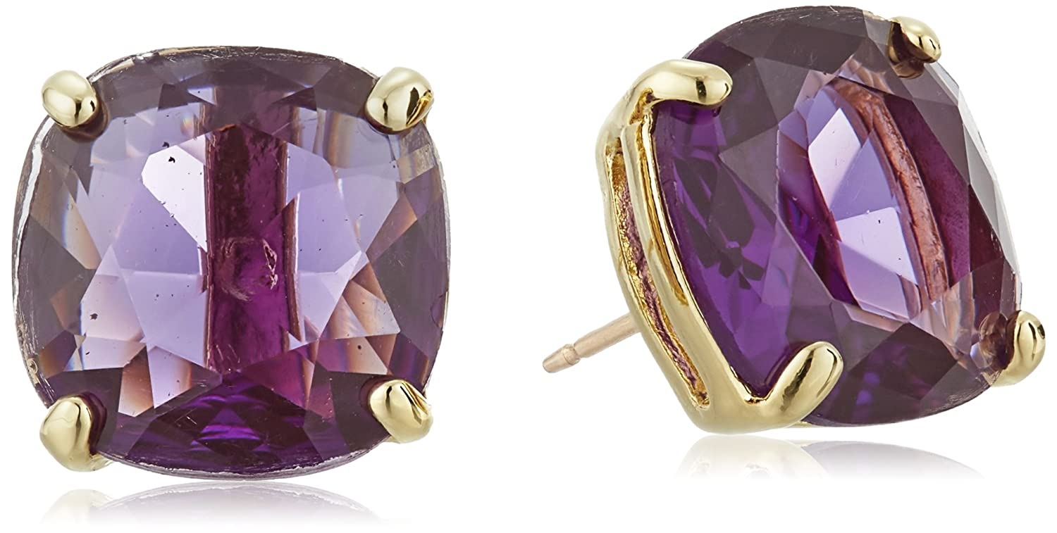 a7c93d7b8 Amazon.com: kate spade new york Small Square Amethyst-Colored Stud Earrings:  Kate Spade Jewelry Amethyst: Jewelry