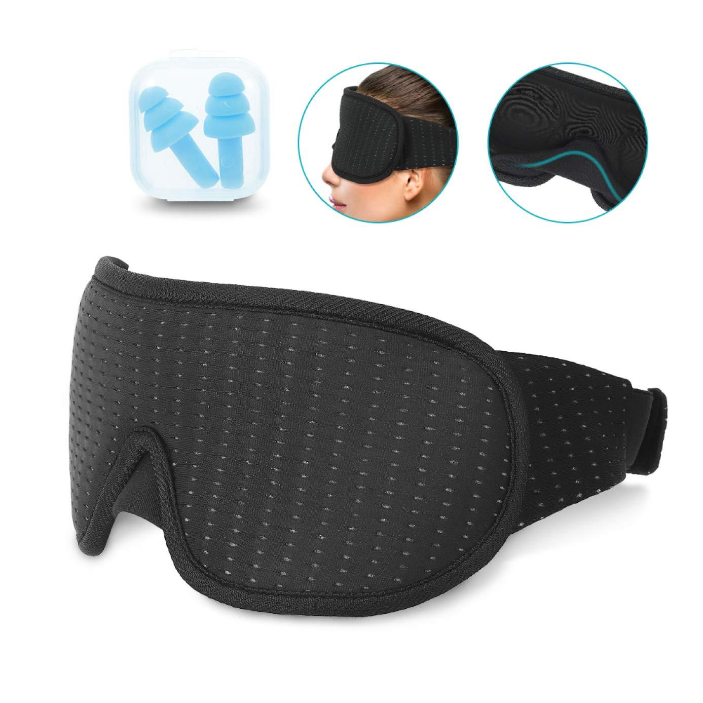 Ajiuzh Incredible 3D Sombra Transpirable Estéreo Sueño Dormir Fatiga Hombre 3D Noseless Eye Protection