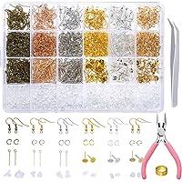 PP OPOUNT 2463 Pieces Earring Making Supplies Kit with Earring Hooks, Jump Rings, Earring Post, Pliers, Tweezers, Jump…