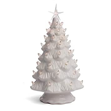 White Christmas Tree With Lights.Milltown Merchants Ceramic Christmas Tree Tabletop Christmas Tree Lights 15 5 Large White Christmas Tree White Lights Lighted Vintage Ceramic