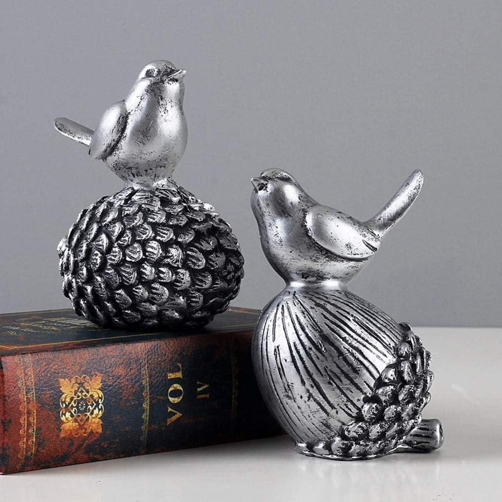 CKH - Decoración para el hogar, diseño de pájaro Creativo de 4.92 Pulgadas, para Mesa de Oficina o Escritorio, estantería de Escritorio Encantadora Mini decoración de Estilo nórdico