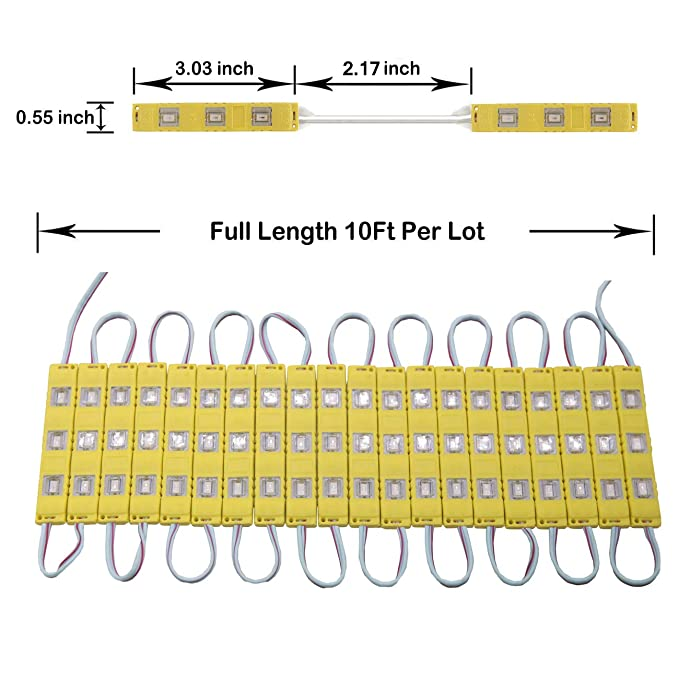 Amazon.com: Juego de 40 luces LED superbrillantes de 20 pies ...