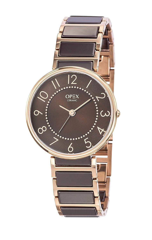 Opex Damen-Armbanduhr Carolyn Analog Quarz Schokolade X3996CA1