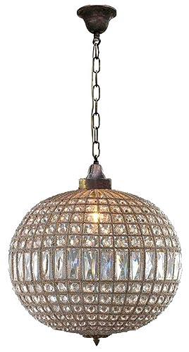 Amazon egypt gift shops bronze antique replica brass french egypt gift shops bronze antique replica brass french empire crystal ceiling lamp globe ball orbit basket aloadofball Choice Image