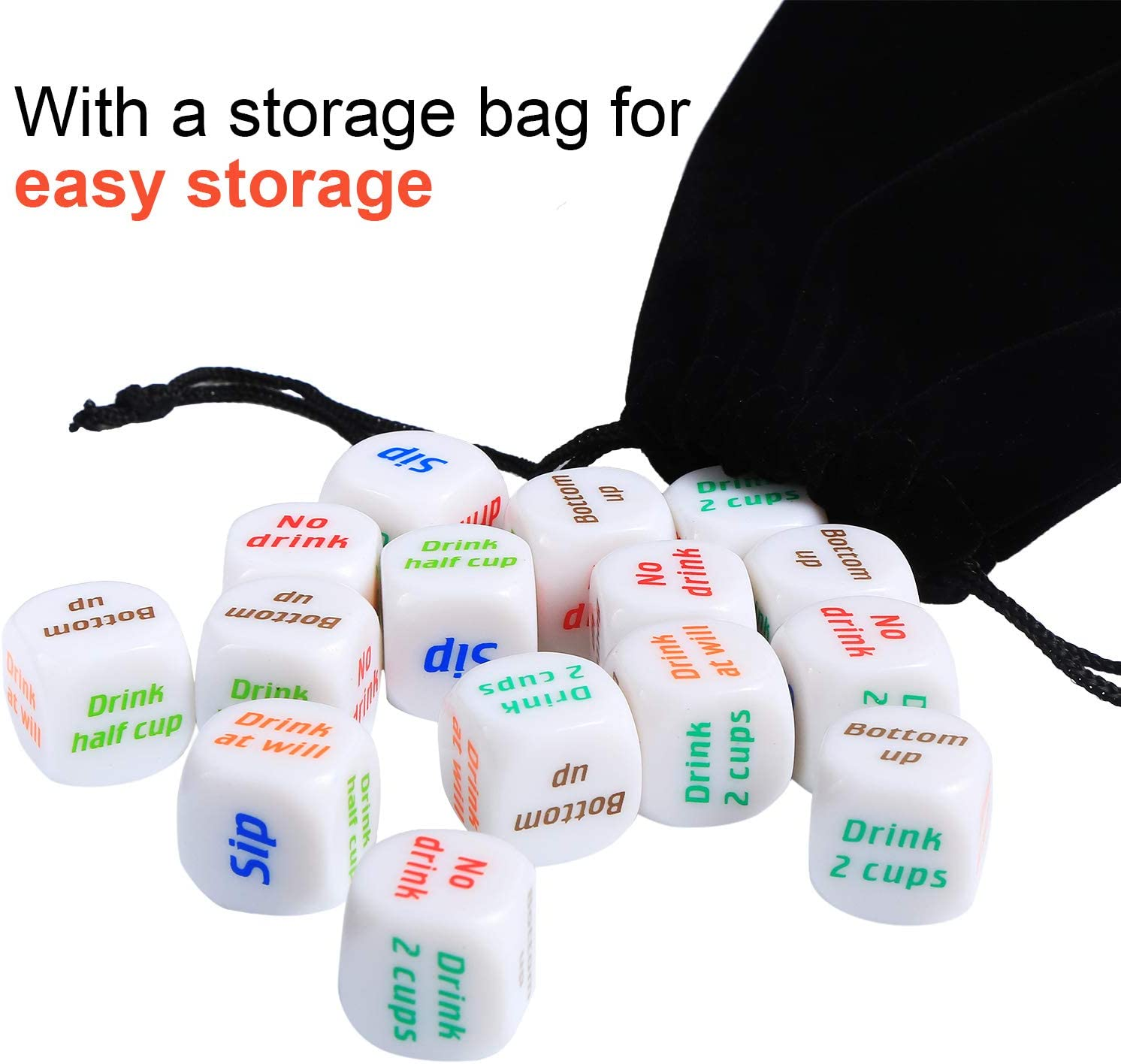 15 Pieces Funny Drinking Dice Novelty Bar Dice Party Supplies for Newlyweds Wedding Bachelor Party Toys