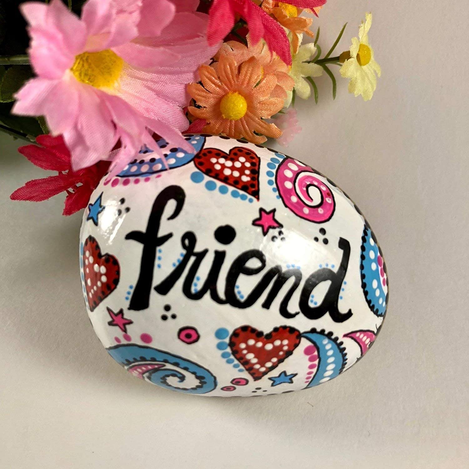 Friend Valentines Day painted rock