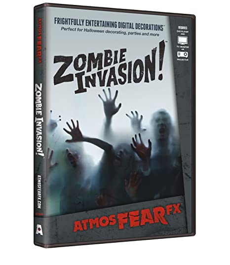 AtmosFX Zombie Invasion! Digital Decorations DVD for Halloween Holiday on zombie clothes ideas, halloween coffin ideas, good zombie ideas, halloween lights ideas, halloween decor ideas, zombie hair ideas, halloween horror ideas, zombie dress ideas, halloween treats ideas, halloween hurricane ideas, scary halloween decorations ideas, halloween vampire ideas, halloween magic ideas, zombie makeup ideas, halloween games ideas, halloween candy ideas, halloween frankenstein ideas, halloween skeleton ideas, zombie tattoo ideas, halloween door decorations ideas,