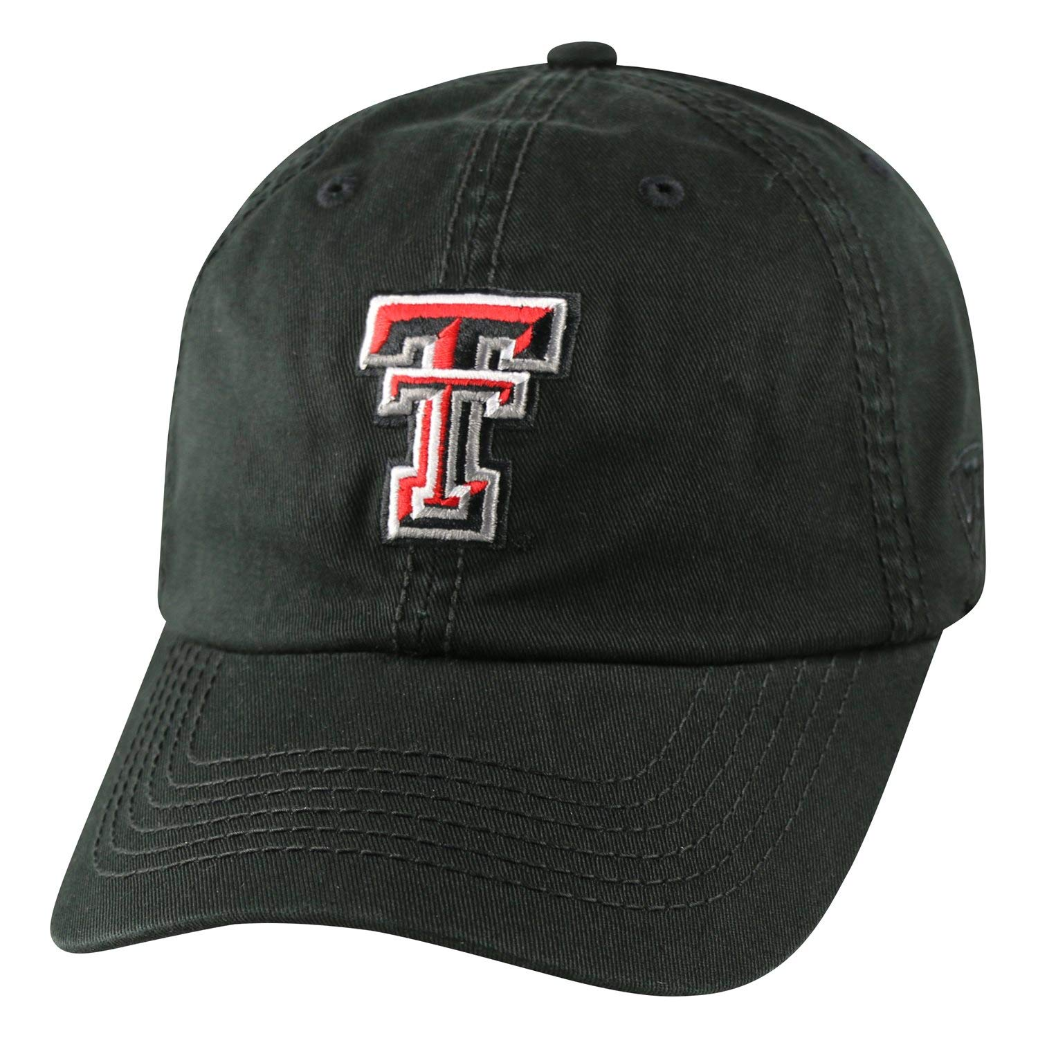 on sale 189e6 6c7b4 Amazon.com   Texas Tech Hat Red Raiders NCAA Top of the World Crew  Adjustable Relaxed Fit Cap Black   Baseball Caps   Sports   Outdoors