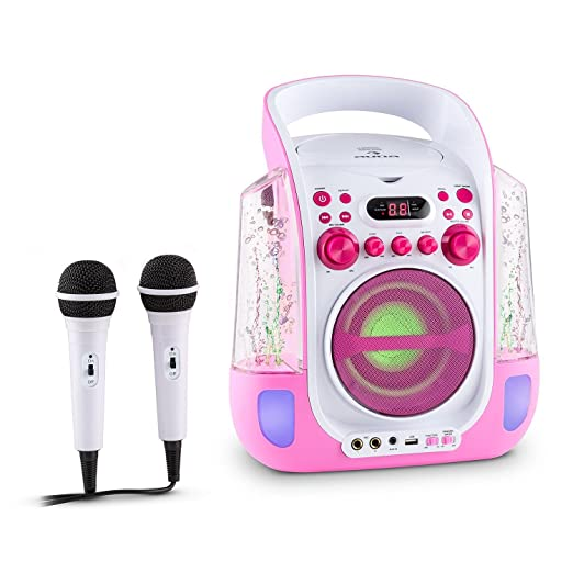 64 opinioni per auna Kara Liquida Impianto Karaoke con effetti luce e d'acqua, lettore CD e 2
