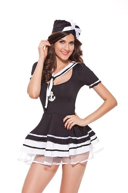 GBT Falda Negra Y Blanca De La Boina De La Boina De La Marina De ...