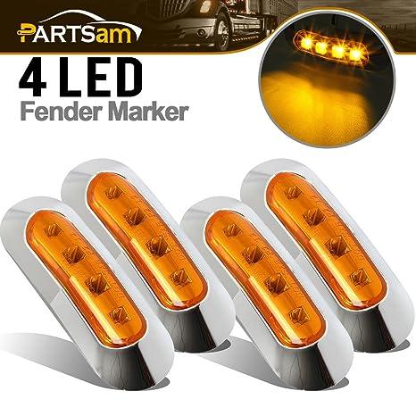 partsam 4 x ámbar LED marcador lateral Luces Bombillas para Coches Camión Remolque Camión Van pastilla
