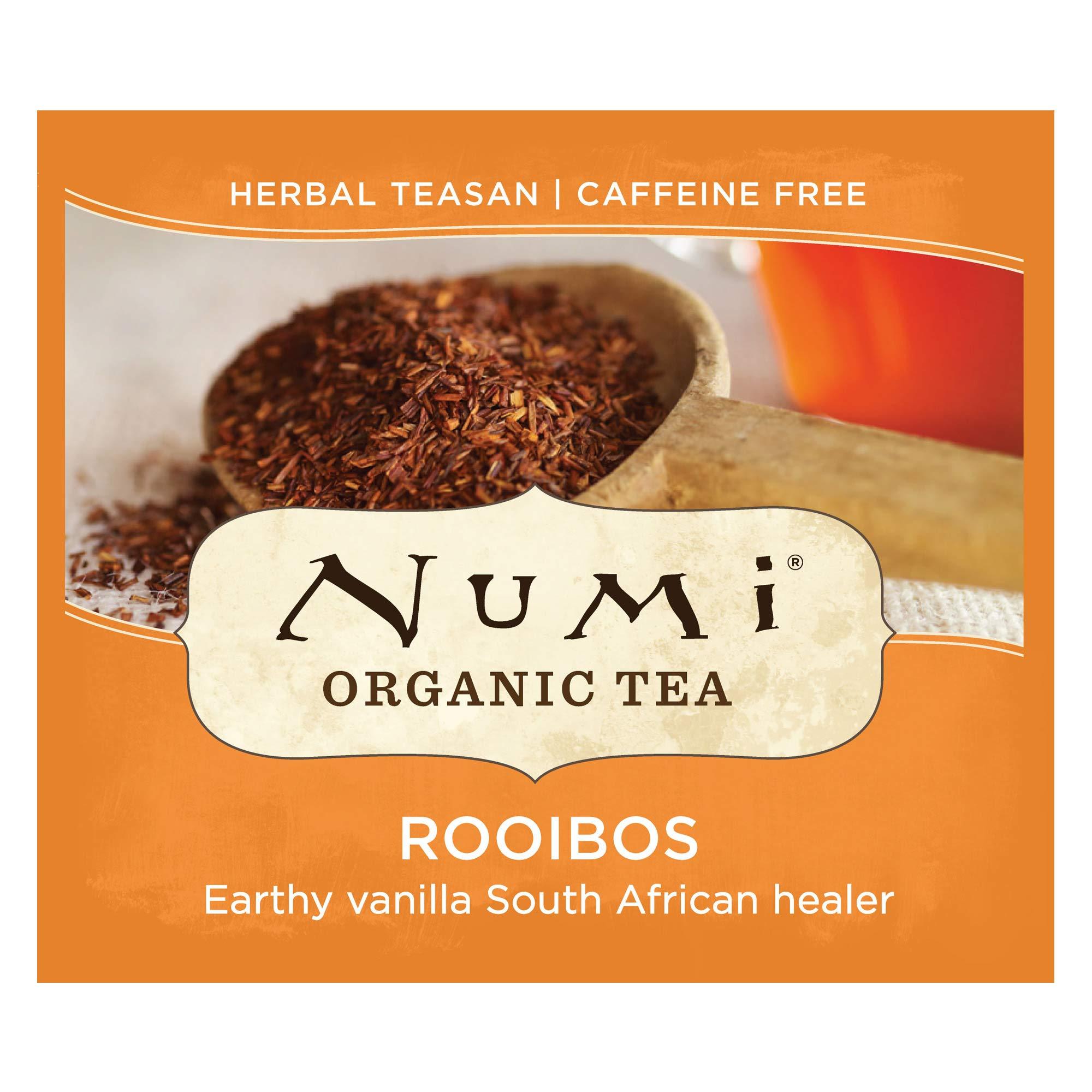 Numi Organic Tea Rooibos, 100 Count Box of Tea Bags, Herbal Teasan (Packaging May Vary) by Numi