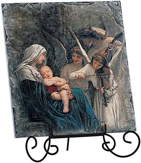 Madonna and Child tile ceramic tile small to hang or display