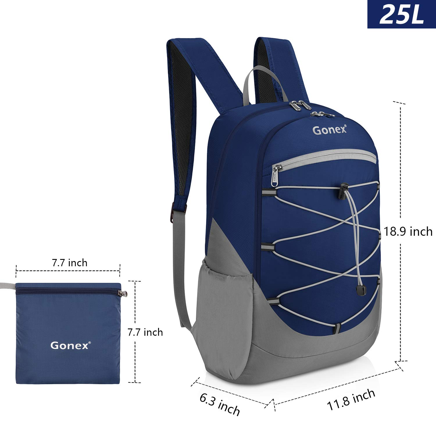 Gonex Ultralight 25L Handy Backpack,Water Repellent Packable Backpack
