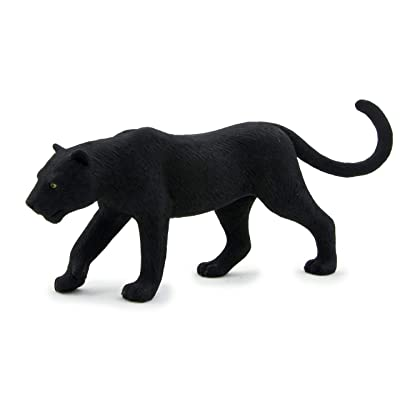 MOJO Black Panther Realistic International Wildlife Toy Replica hand painted figurine: Toys & Games