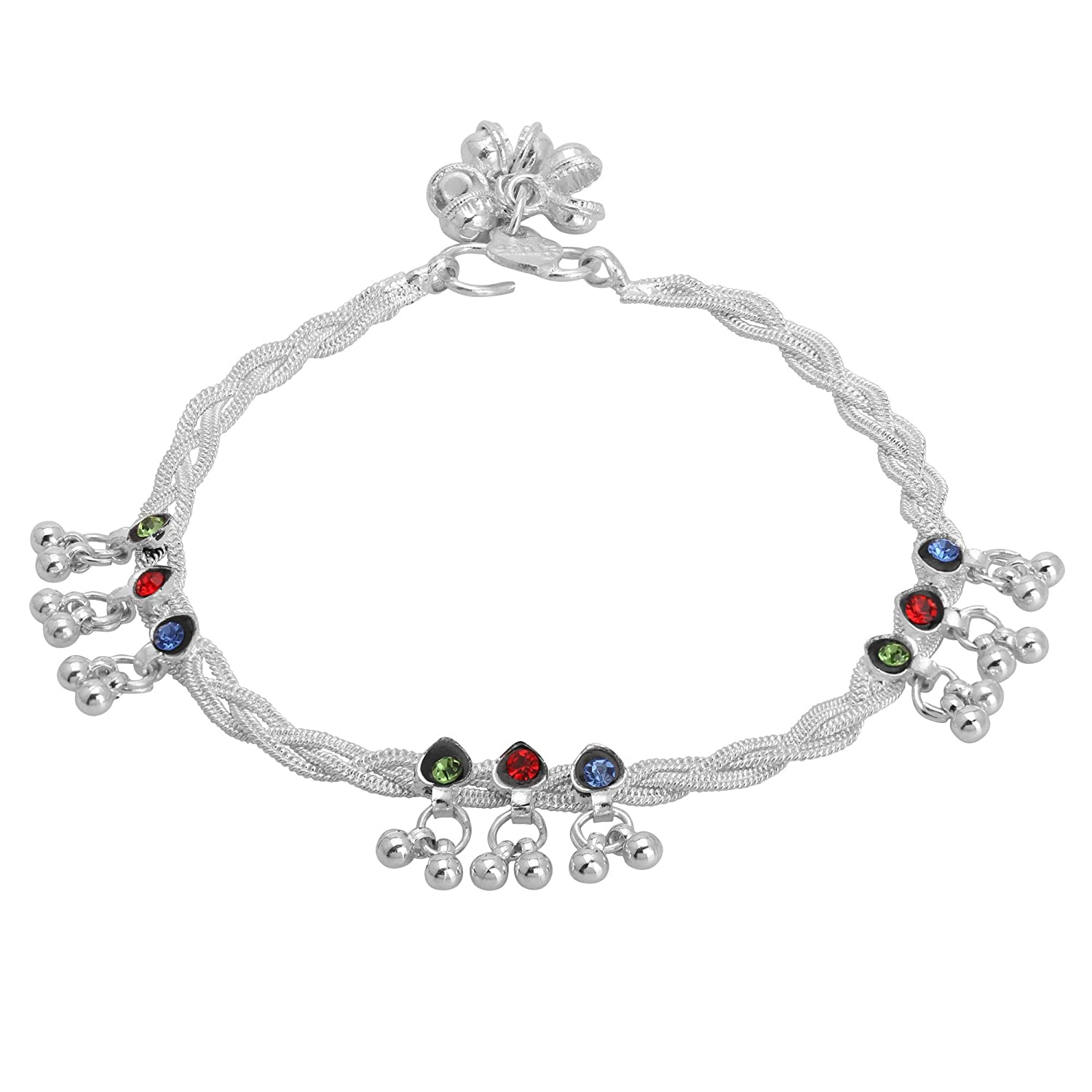 iCraftJewel Traditional Anklet Payal Indian Woman Foot Anklet Set Bollywood Jewelry Wedding Gift Item