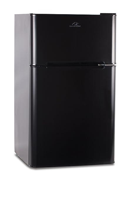 Merveilleux Commercial Cool CCRD32B Compact Double Door Refrigerator With True Freezer,  3.2 Cu. Ft.
