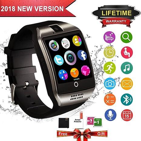Reloj Inteligente Bluetooth, Impermeable Smart Watch Reloj Deportiva Inteligente con Camara, SIM/TF