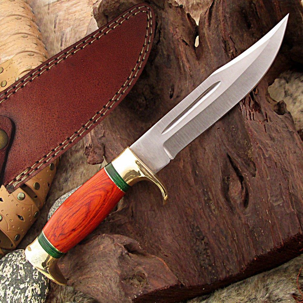 Amazon.com: Cuchillo de caza sin ley Miami de hoja fija ...