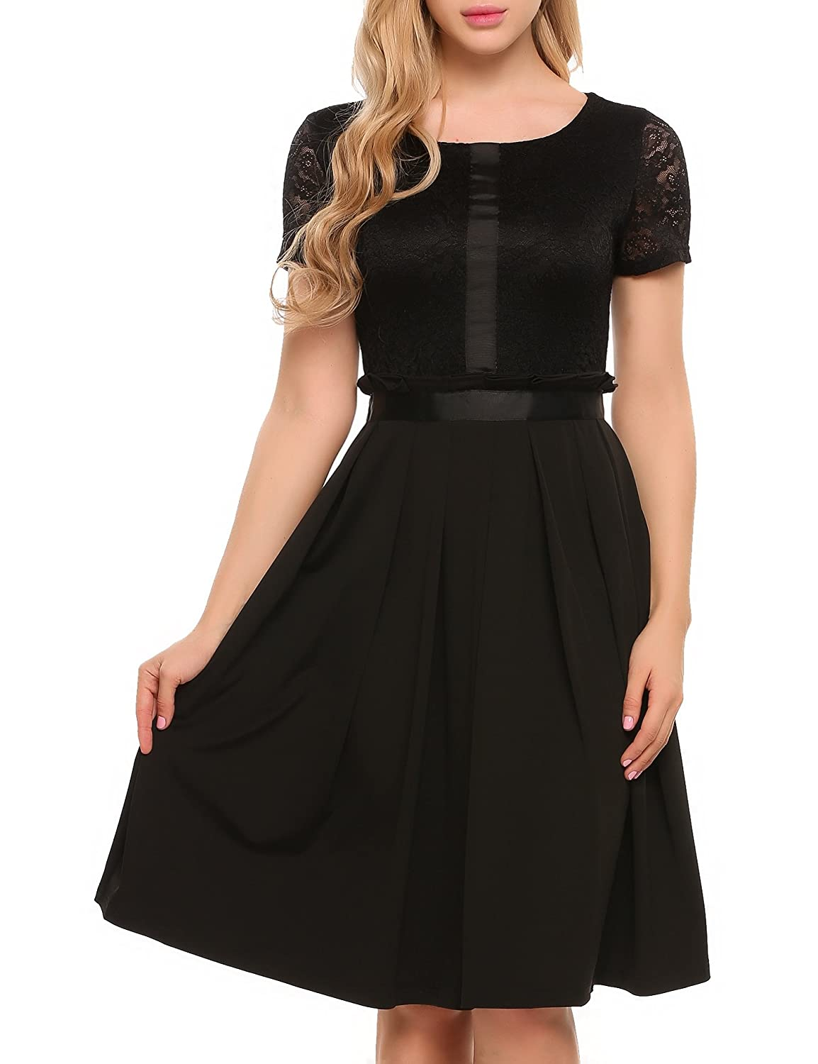 4f7a64871a3 Top 10 wholesale Black Lace Dress Midi Length - Chinabrands.com