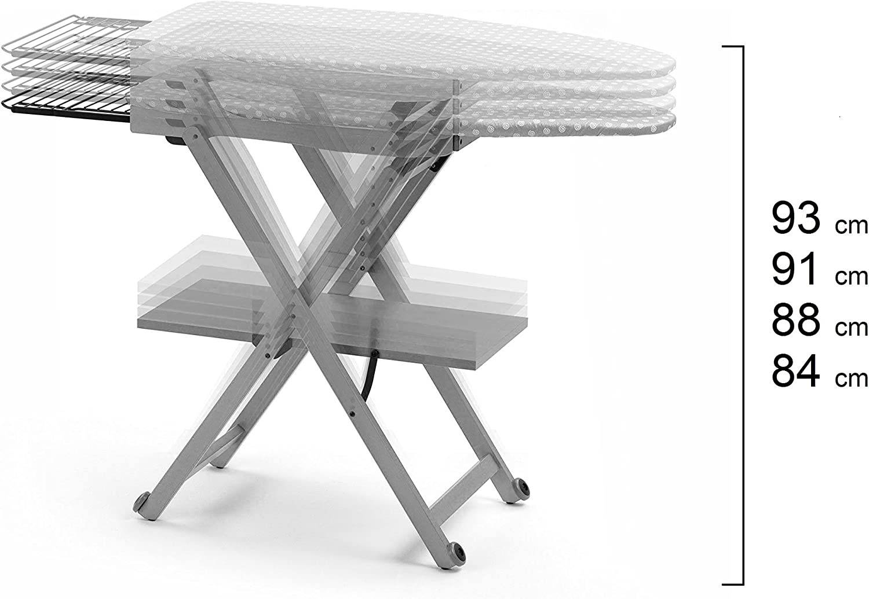 Arredamenti Italia AR_IT- 621 STIROCOMODO adjustable ironing board finishing cherry. Beige