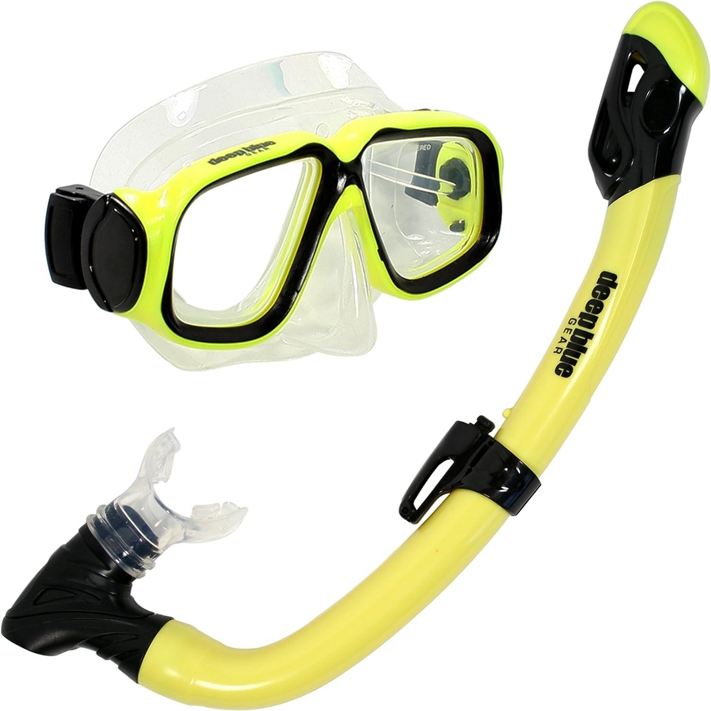 Deep Blue Gear Maui Jr. Diving Mask and Dry Snorkel Set, Kid's, Yellow 141[並行輸入]   B01HH0H72Y