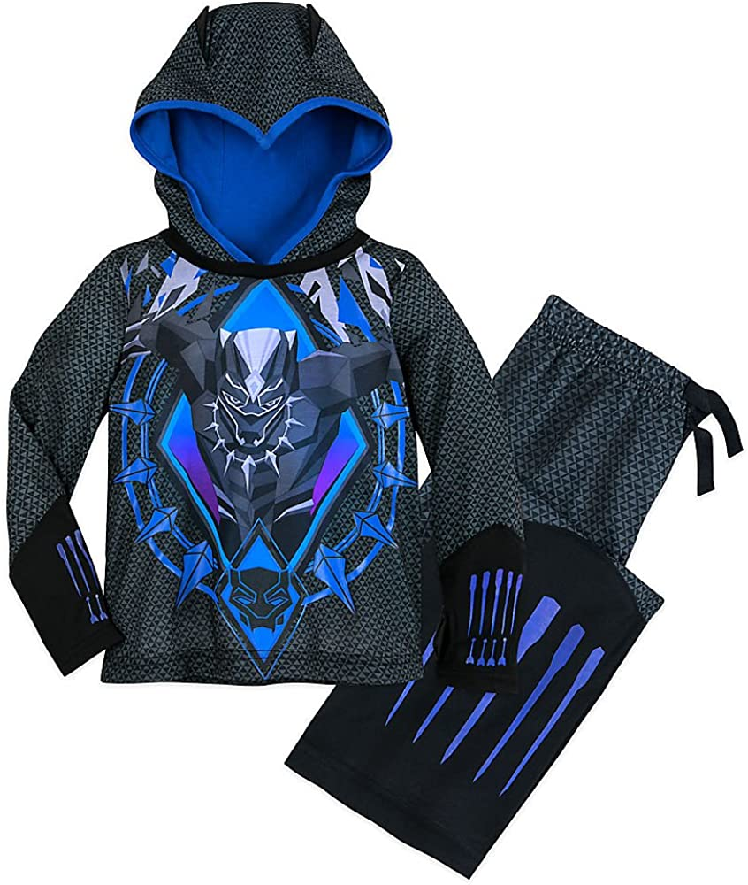Boys Black Panther Poncho Kids Black Panther Towel With Hood 100/% Cotton