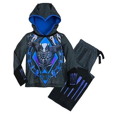 ccd34ac668 Amazon.com: Marvel Black Panther Hooded Sleep Set for Boys: Clothing