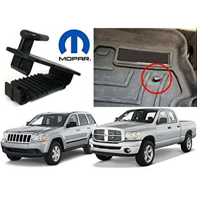Mopar DODGE CHRYSLER JEEP Floor mat hold down retaining clip driver side NEW OEM: Automotive