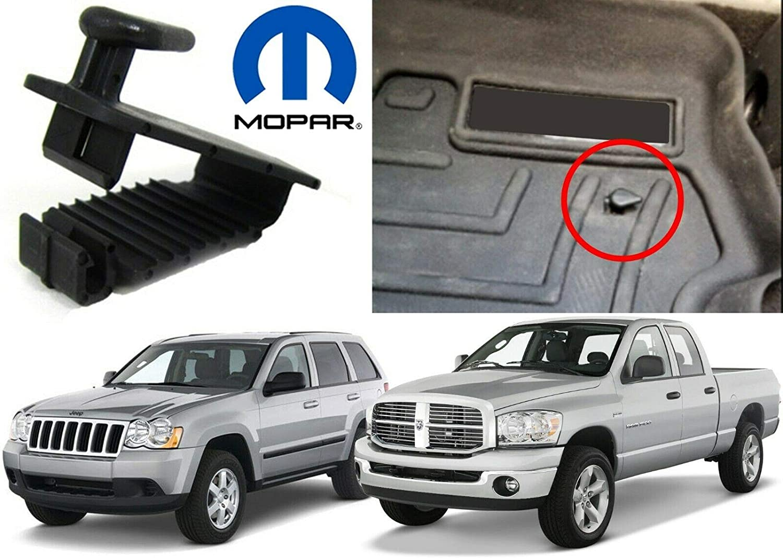 Mopar DODGE CHRYSLER JEEP Floor mat hold down retaining clip driver side NEW OEM