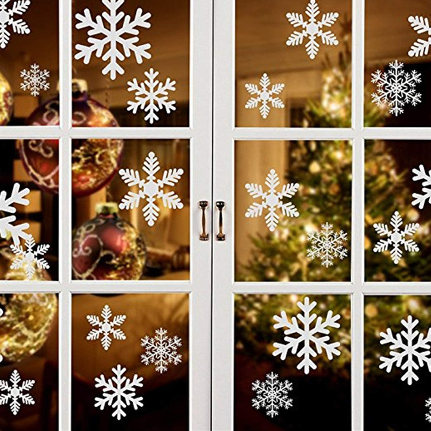 Style 1 500 Pieces Mini Foam Snowflake Stickers Self-Adhesive Snowflake Stickers Decals for Christmas Decoration