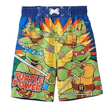 """a5d4bf62c0 Teenage Mutant Ninja Turtles """"Turtle Power"""" Little Boys' Swim  Trunks ..."""
