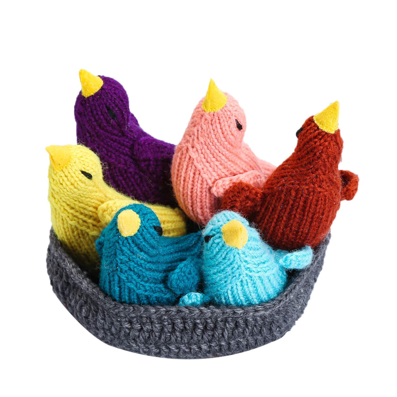 Moni's Choice Easter Bird Stuffed Animal, 100% Handmade Baby Toy Set, Children's Day Gift, Crochet Easter Basket, Bird Plush Toy by Moni's Choice