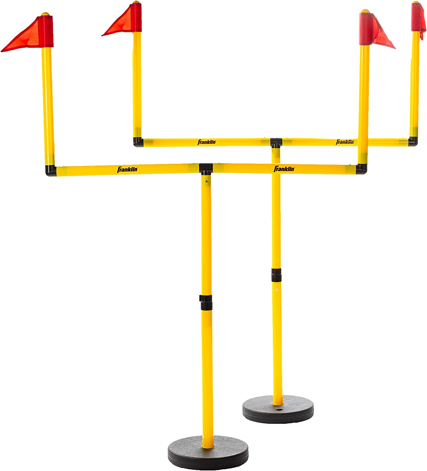 Franklin Sports Youth Football Goal Post Set - Kids Football Easily Adjustable Field Goals - Includes 2 Goal Posts - Perfect for Ages 4+ Backyard Play