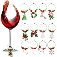 Christmas Wine Charms
