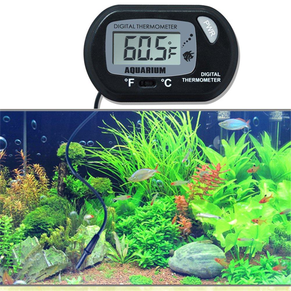 YSCYLY Wasser-Thermometer-LCD-Bildschirm-Digital-Sensor-Aquarium-Intelligenter Temperaturregler-Haustier-Fisch-Alarm Liefert Wasser-Werkzeug