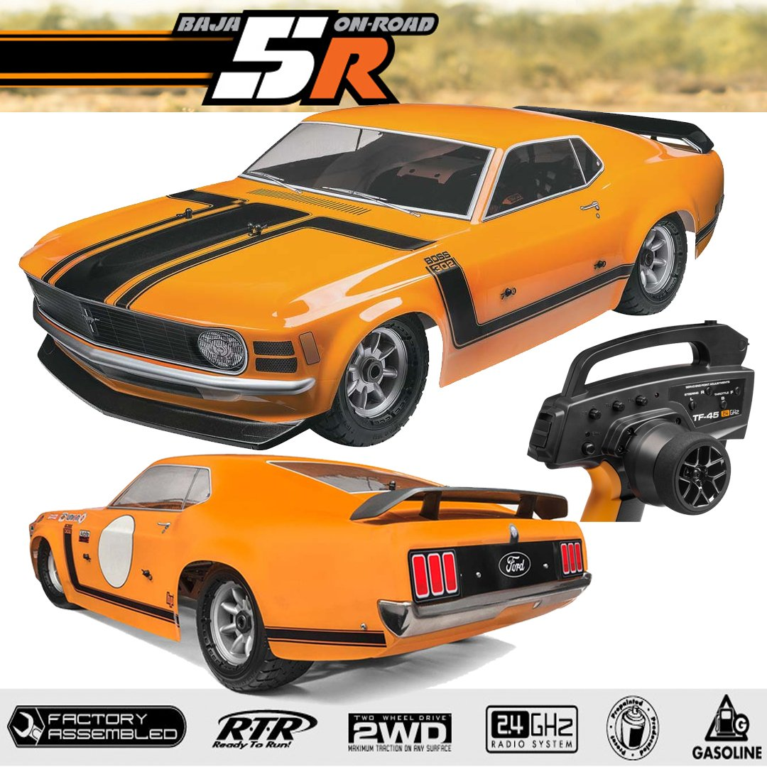 Amazon com hpi racing 115123 baja 5r 1970 ford mustang boss gas ready to run 23cc engine toys games