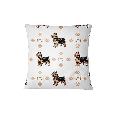 Australian Terrier perro huesos patas sofá cama decoración del hogar funda de almohada almohada y cubierta