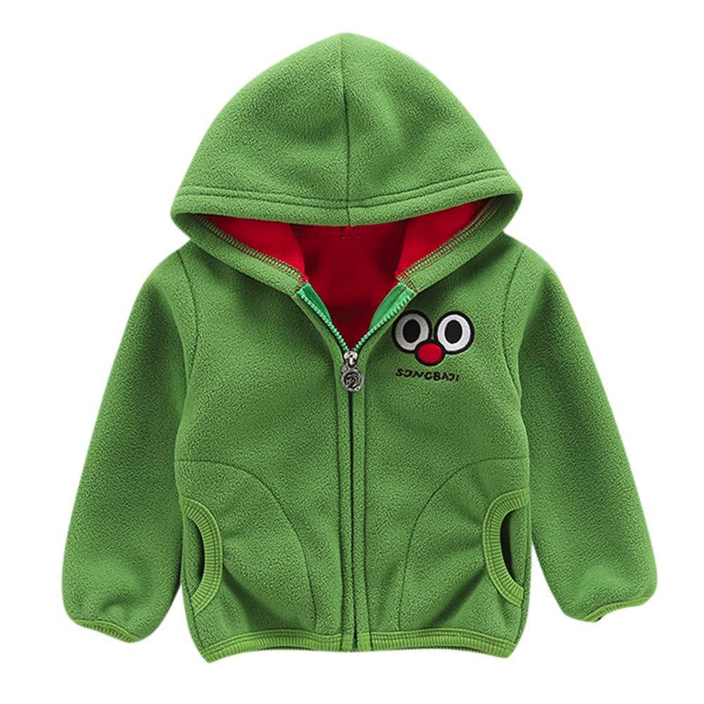 Little Kids Winter Warm Coat,Jchen(TM) Fashion Toddler Baby Little Boy Girl Cartoon Long Sleeve Hoodie Fleece Winter Warm Outwear Coat Jacket for 0-3 Y (Age: 2-3 Years Old, Green)