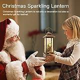 "JEDAWN 12"" Lighted Snow Globe Lantern, Christmas"