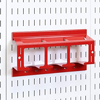product image for Wall Control Drill Holder Power Tool Storage Rack - Compact Impact Drill Battery Power Tool Pegboard Organizer for Wall Control Pegboard (Red)