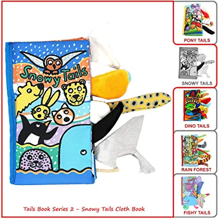 Soft Cloth Books Jungly Tails Ocean Animal Tails Infants Toddler Education Toy G